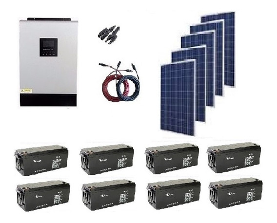 Kit Solar 2000w Hibrido Grande