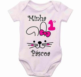 Body Bebê Páscoa Minha Primeiro Páscoa Menina Páscoa