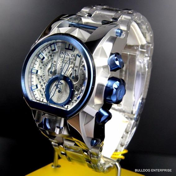 Reloj De Hombre Invicta Reserve Bolt Zeus Magnum Plateado