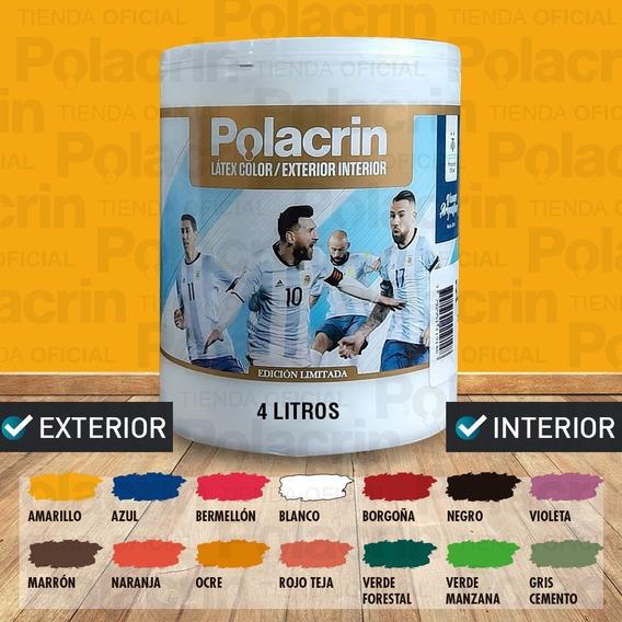 Latex Interior Exterior Color Polacrin Lavable 4 Lts Premium