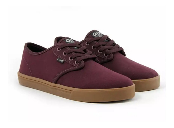 Tênis Qix Skate New Base Bordo
