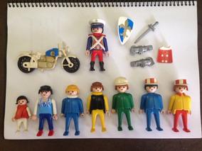 Playmobil Lote 8 Bonecos + Playmobil Motocicleta Trol 1977