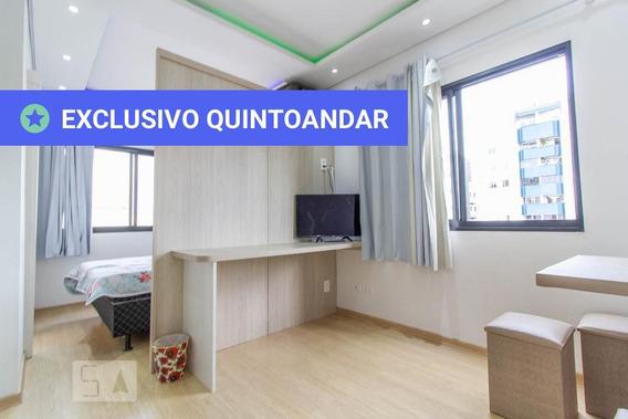 Studio No 6º Andar Mobiliado Com 1 Dormitório - Id: 892958350 - 258350
