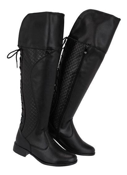 Bota Montaria Over The Knee Feminina Cano Longo Ref:281