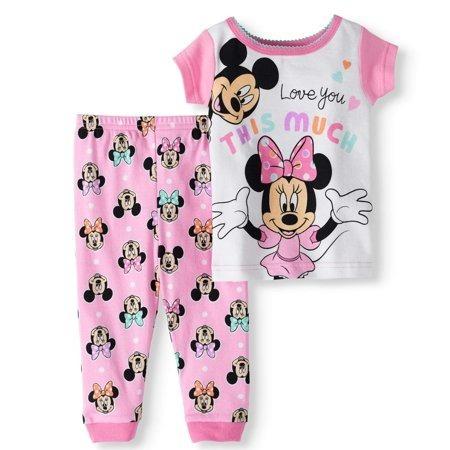 Pijama Minnie Bebe 100% Org Niña Recién Nacido