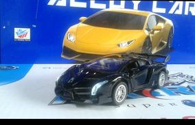 Miniatura Porsche Preto/ Pink Ferro Fricção Acende O Farol