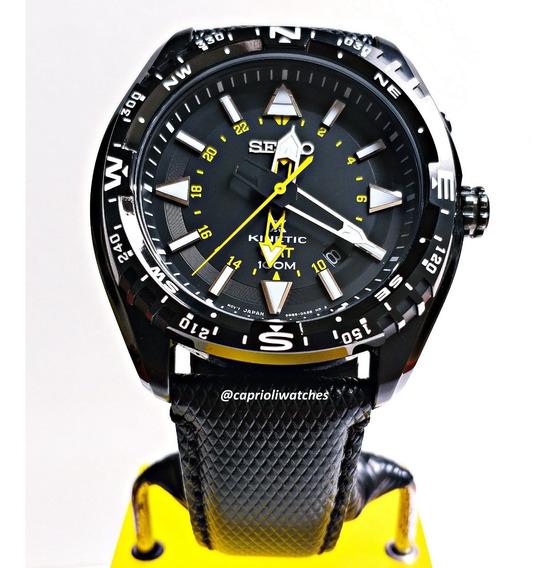 Espetacular Relógio Seiko Gmt Kinetic Prospex Automático
