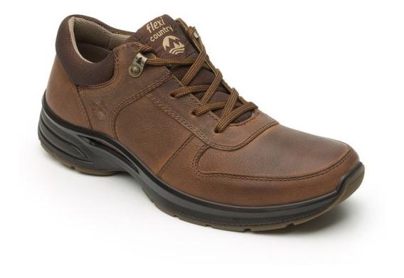 Zapato Cerrado Casual Caballero 79804 Flexi Tan