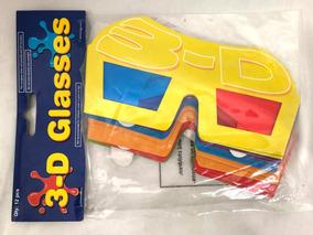Óculos 3d Em Papel Papelão Pacote Com 12 Unidades Importado