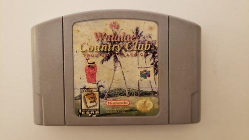 Imagen 1 de 2 de Videojuego Waialae Country Club Golf Consola Nintendo 64