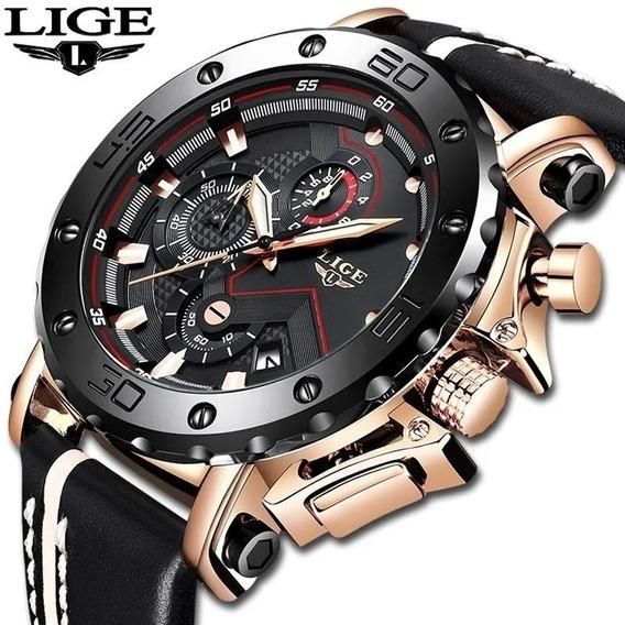 Relógio Masculino Lige Militar Espotivo De Luxo Original