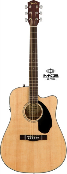 Guitarra Electroacústica Fender Cd-60sce Natural Con Fishman