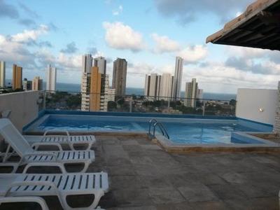 Flat Para Locação Em Natal, Ponta Negra, 2 Dormitórios, 1 Banheiro, 1 Vaga - Mhf 2q B