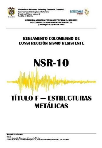Imagen 1 de 2 de Título F De La Nsr-10 En Físico