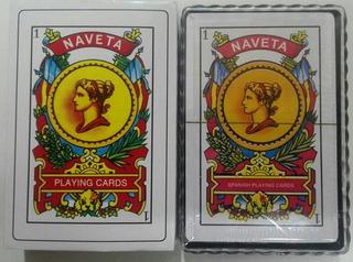 Baraja Española X 50 Cartas Naipe 2d Naveta 736 Cartón