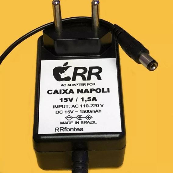 Fonte Carregador 15v P/ Caixa Ativa Som Amplificada Napoli
