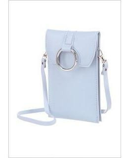Bolsa Porta Celular Azul ,gris O Café Miniso