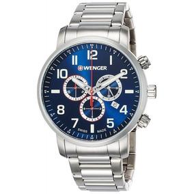 Relógio Wenger Attitude Chrono Azul 01.1543.101 C/ N F