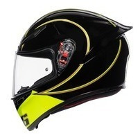Casco Cerrado Agv K-1 E2205 Top Gothic 46 Negro/amarillo