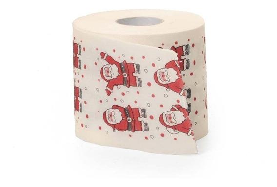 Papel Higiênico Natal Branco 1 Peça