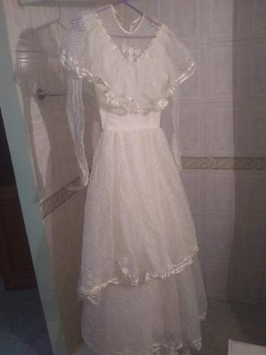 Precioso Vestido De Novia O De 15 Blanco Encaje. Perfecto!