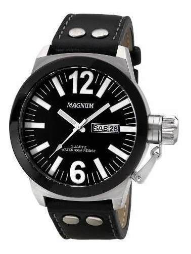 Relógio Magnum Grande Original Preto Masculino Ma31533t Top