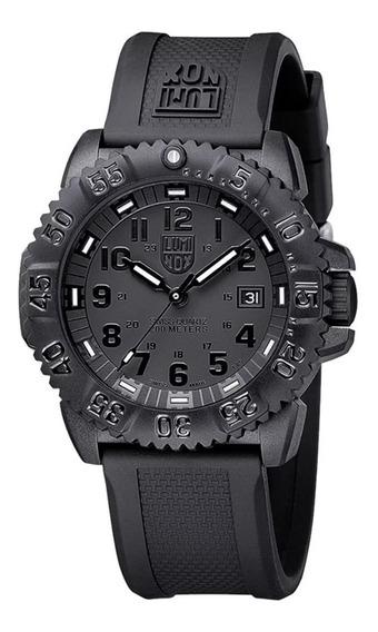 Relógio Luminox 3051.bo Navy Seals Colormark Carbon Swiss A.3051