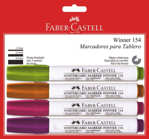 Marcador Seco Faber Castell X4