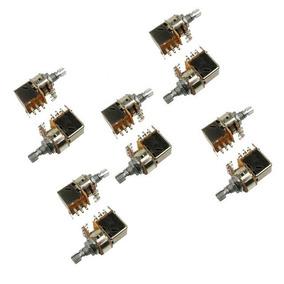 Potenciômetros Push Pull A500k Ou B500k Kit Com 10 Unidades