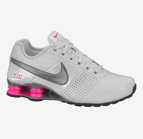Tênis Nike Shox Deliver Cinza Rosa Original