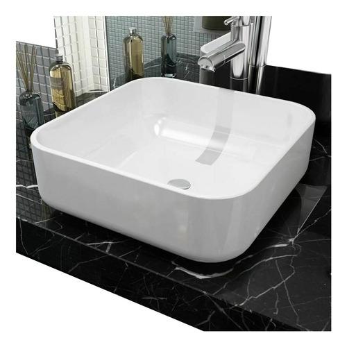 Lavamanos Blanco Vessel Bordes Curvilineos 38x 38x 13,5cm