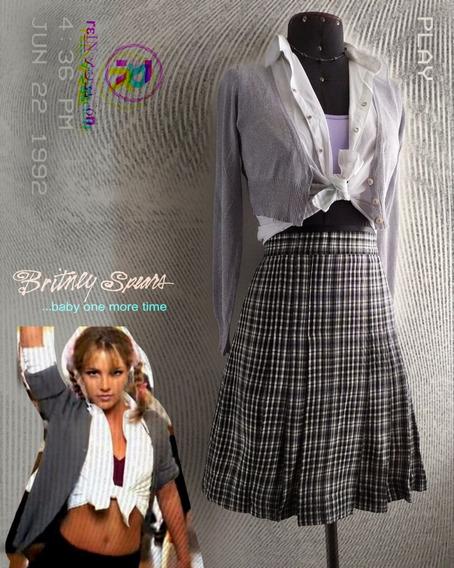 Disfraz Halloween Britney Spears Falda Escocesa Blusa Chompa