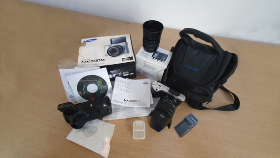 Câmera Samsung Nx300m 18-55mm + 45mm 1.8 + Brindes