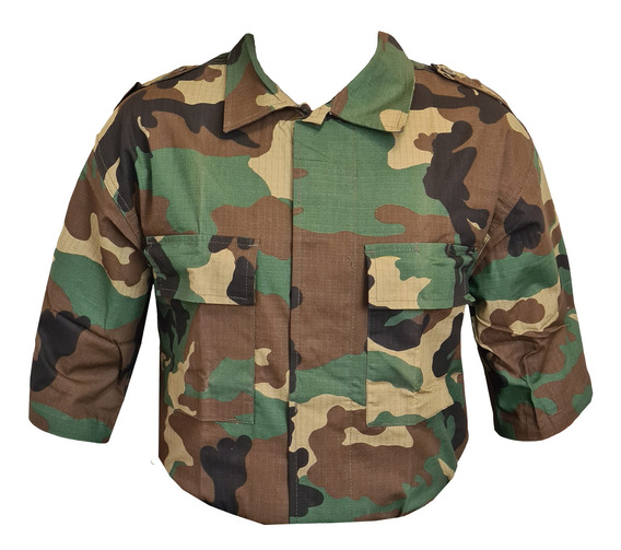 Camisa Ripstop Táctica Camuflada Woodland Militar