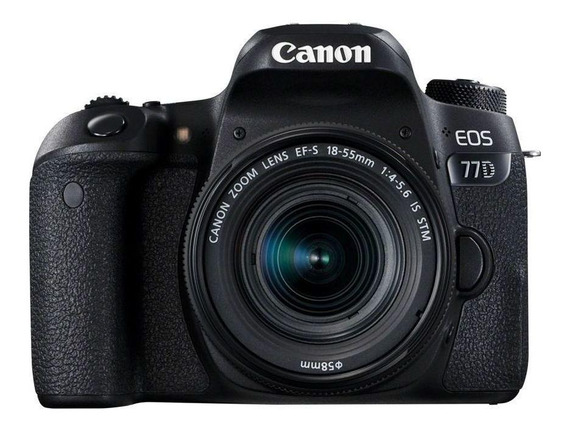 Canon EOS 77D 18-55mm IS STM Kit DSLR cor preto