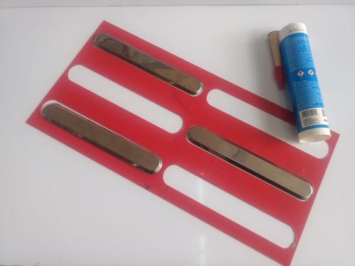 3m2 Piso Inox Direcional + Gabarito + 3cola Alta Resistência