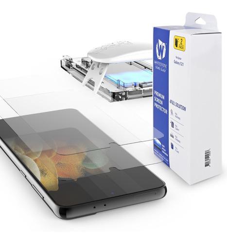 Imagen 1 de 10 de Vidrio Templado Samsung S21 Whitestone Dome Glass Pack X 2