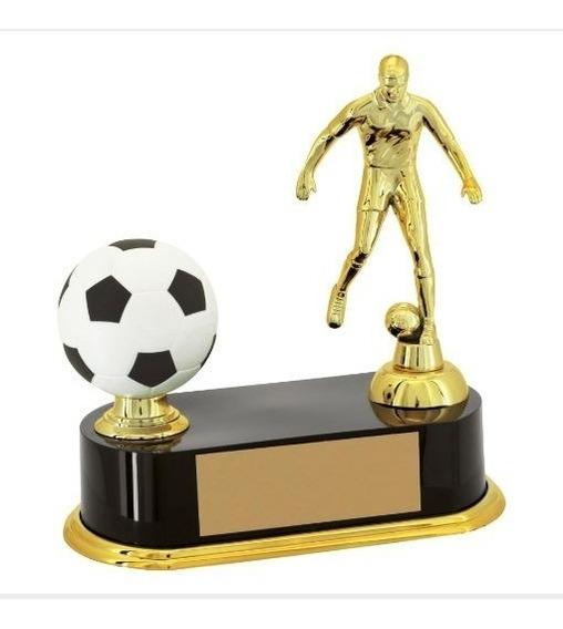 Trofeu Futebol Artilheiro Jogador E Bola - Premiação