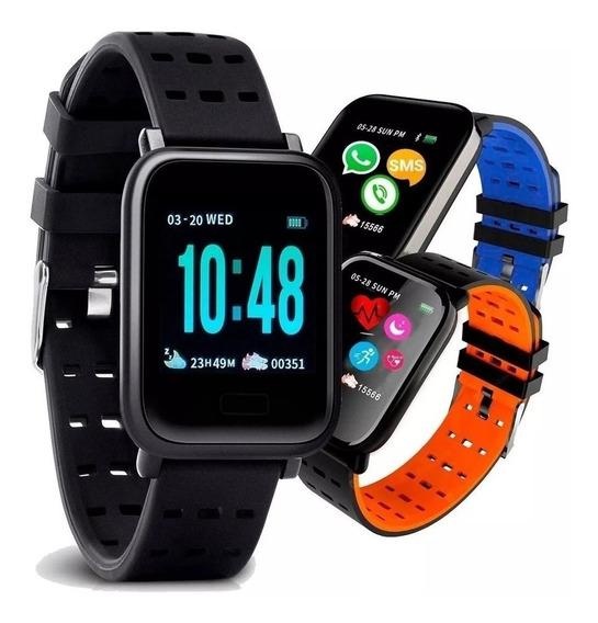 Relógio Inteligente Smartwatch Bluetooth Pressão Batimentos