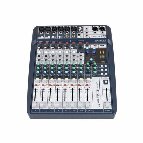 Mesa De Som Mixer Soundcraft Signature 10 Pronta Entrega