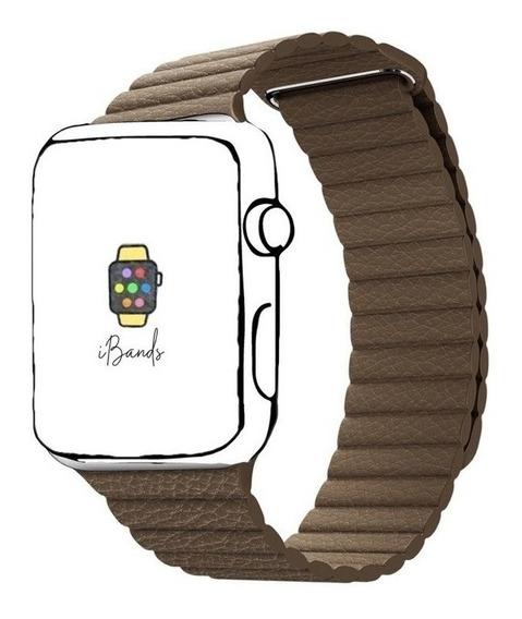 Pulseira Ibands Couro Loop Fecho Magnético Para Apple Watch