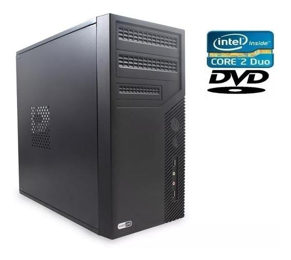 Pc Computador Cpu Intel Core 2 Duo Hd 500 4gb Semi-novo