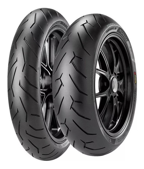 Par Pneu 150/60 R17 + 110/70 R 17 Pirelli Diablo Rosso 2