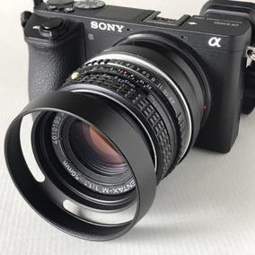 Lente 50mm F1.7 Pentax Pk Com Adaptador Sony Nex A6500 A7