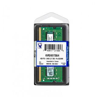 Memoria Kingston Kvr24s17s6/4, 4gb, Ddr4, So-dimm, 2400 Mhz,