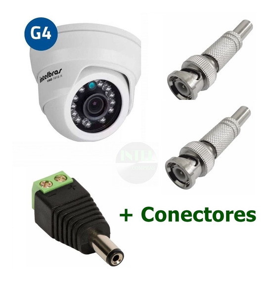 Camêra Vhd 1010d Hdcvi 720p 3.6mm Intelbras+ Conectores