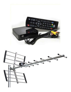 Kit Completo Tv Digital Tda Antena Exterior Y Decodificador