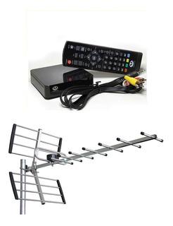 Kit Tv Digital Tda Antena Exterior Y Decodificador Y Cable