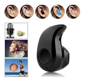 Mini Ultra Pequeno Fone De Ouvido Com Microfone Sem Fio Blue