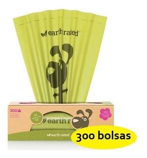 300 Bolsas Oxo Biodegradables Popó Perro Earth Rated Poop